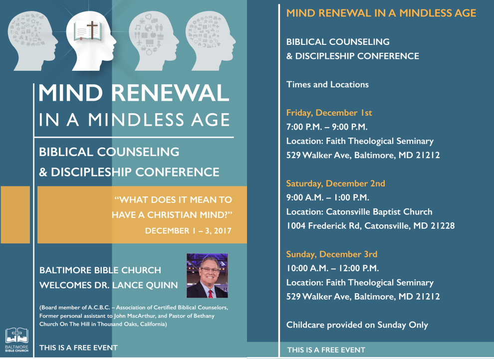 Biblical Counseling & Discipleship Conference