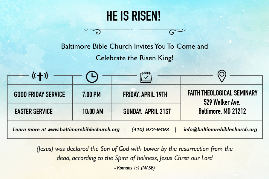 easter service 2019
