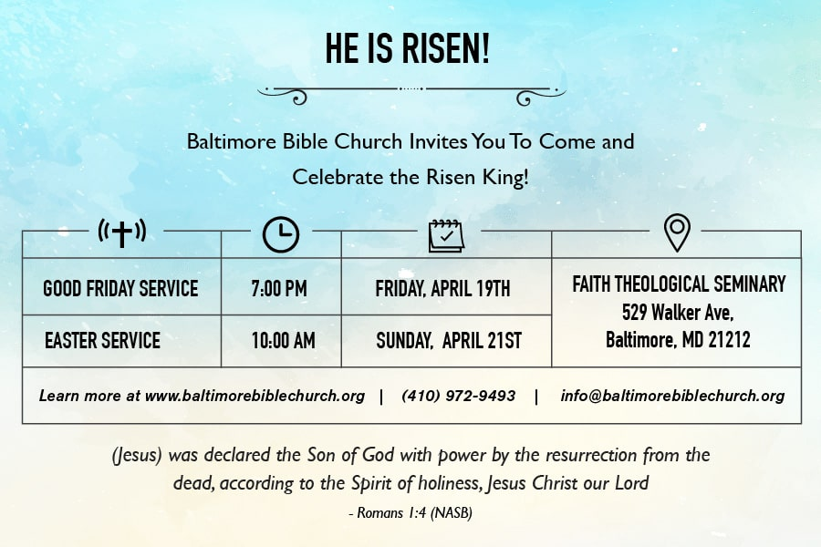 easter service baltimore bible church